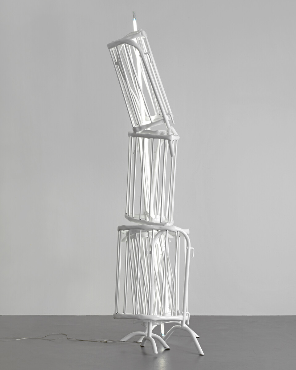 Bettina Pousttchi, Double Monuments, Double Monument for Flavin and Tatlin XI, 2013